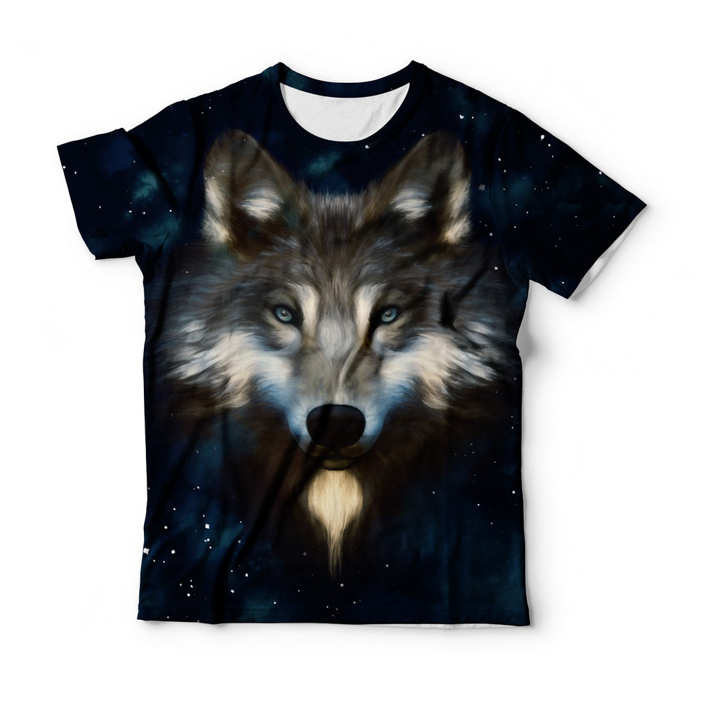 Wolf In Night T-Shirt