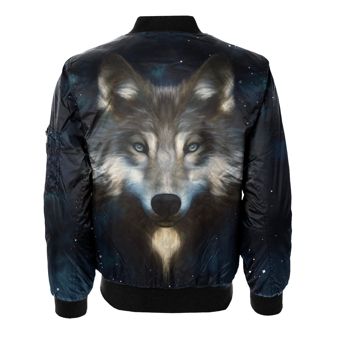 Wolf In Night Bomber Jacket