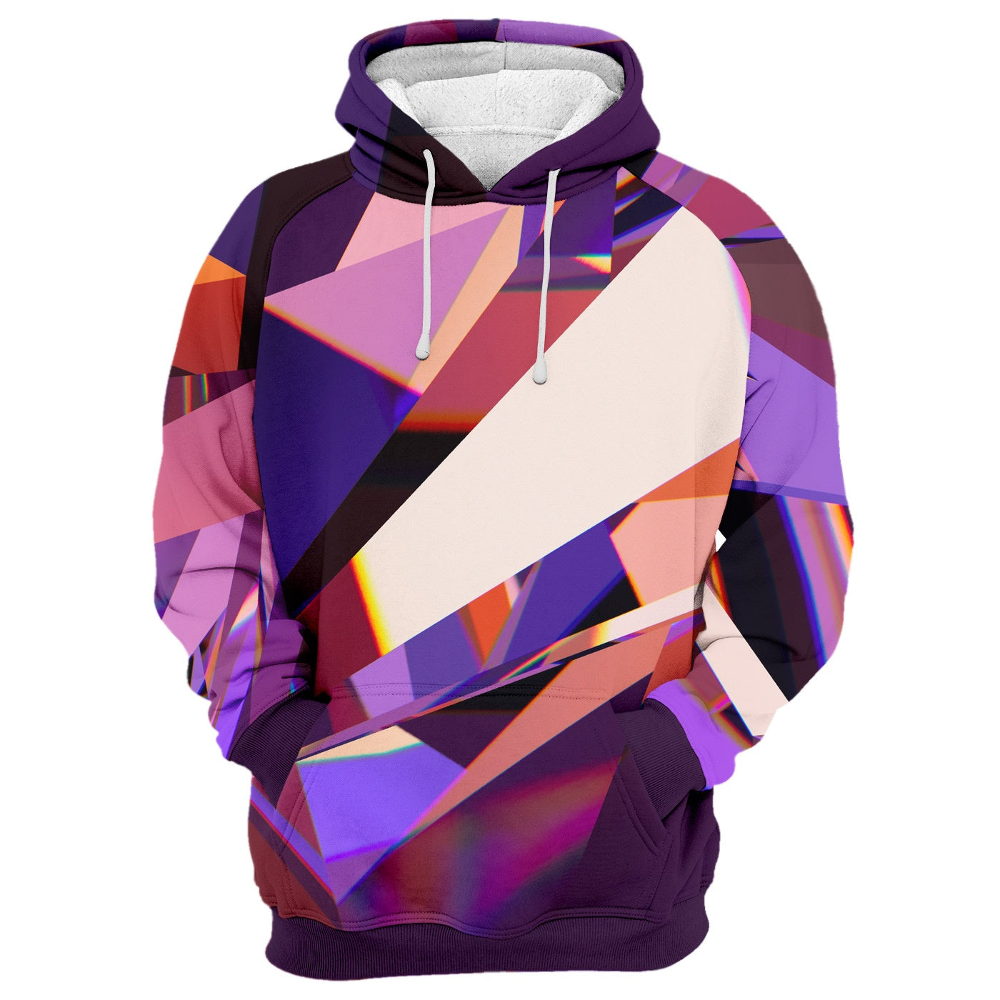 Abstract Purple Crystal Hoodie