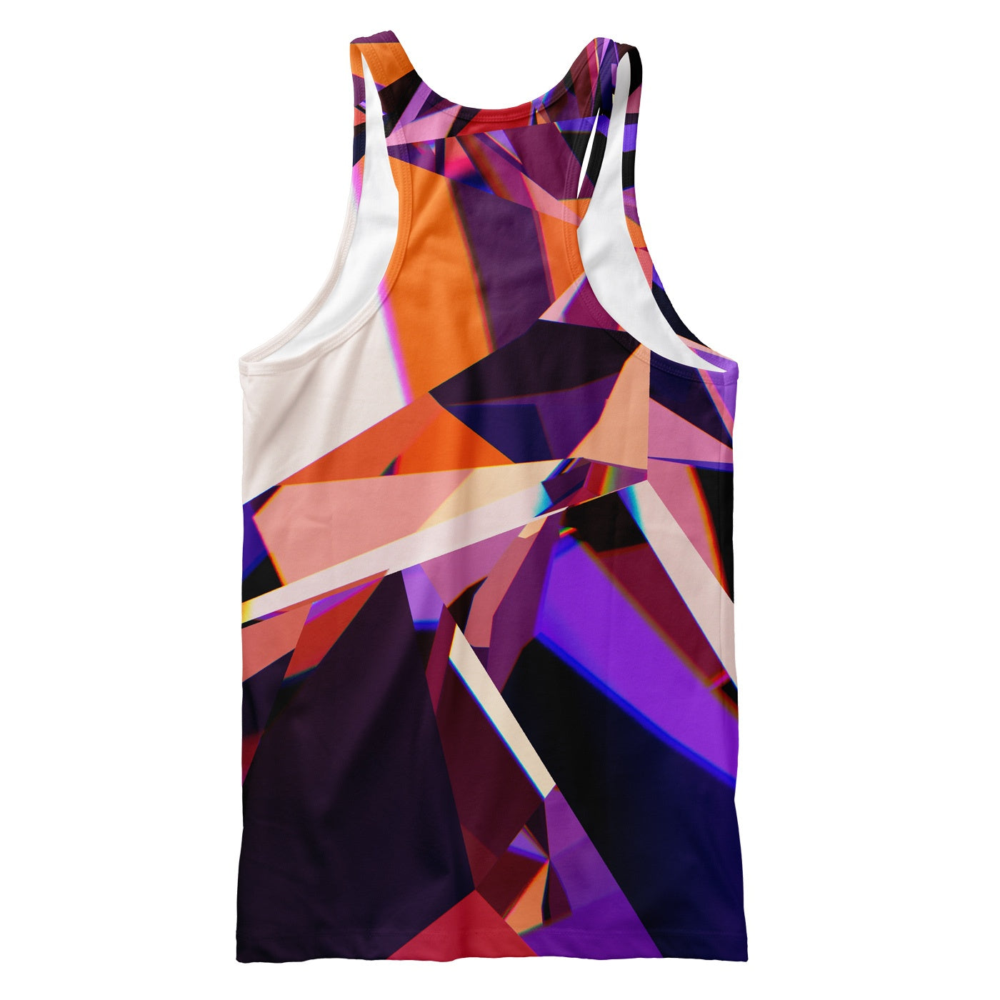 Abstract Purple Crystal Tank Top