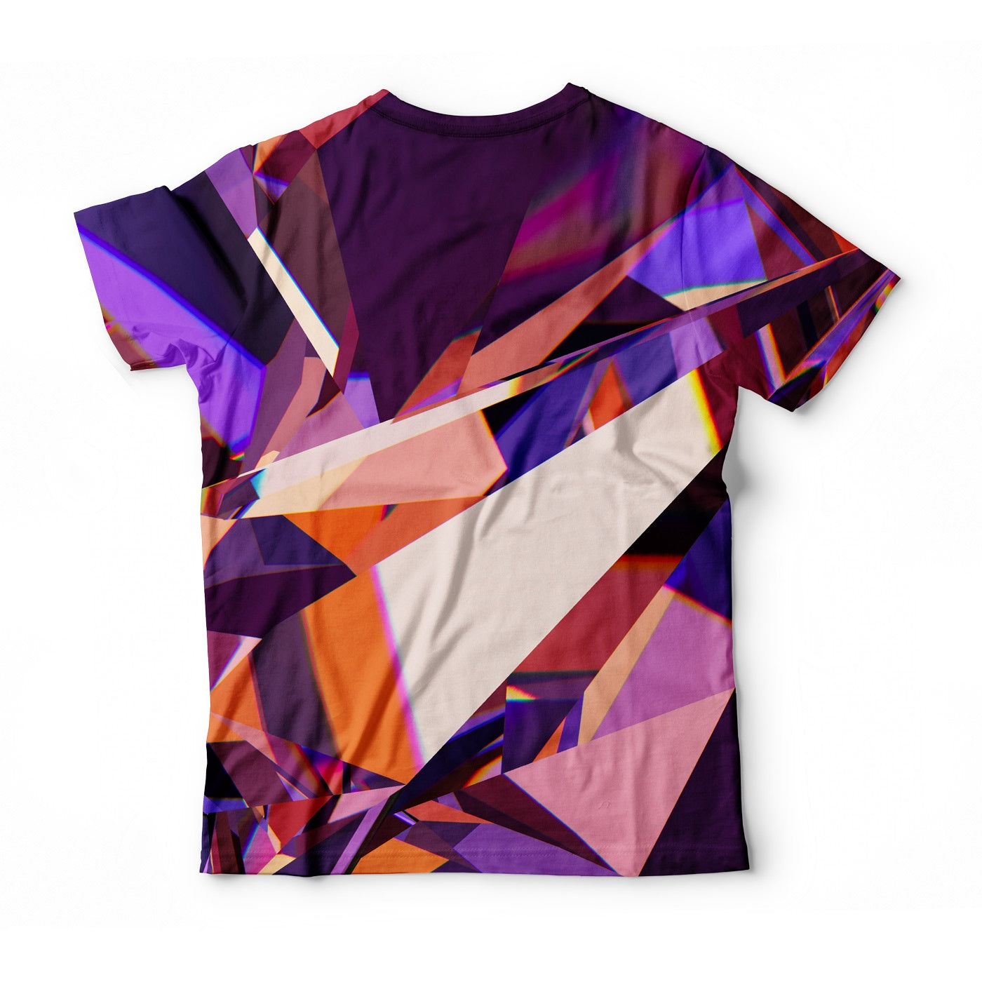 Abstract Purple Crystal T-Shirt