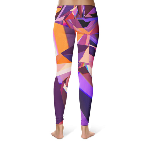Abstract Purple Crystal Leggings
