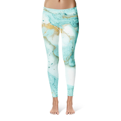 Decorative Marble Texture Leggings