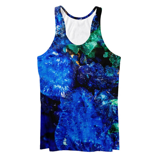 Mineral Stone Malachite With Azurite Tank Top