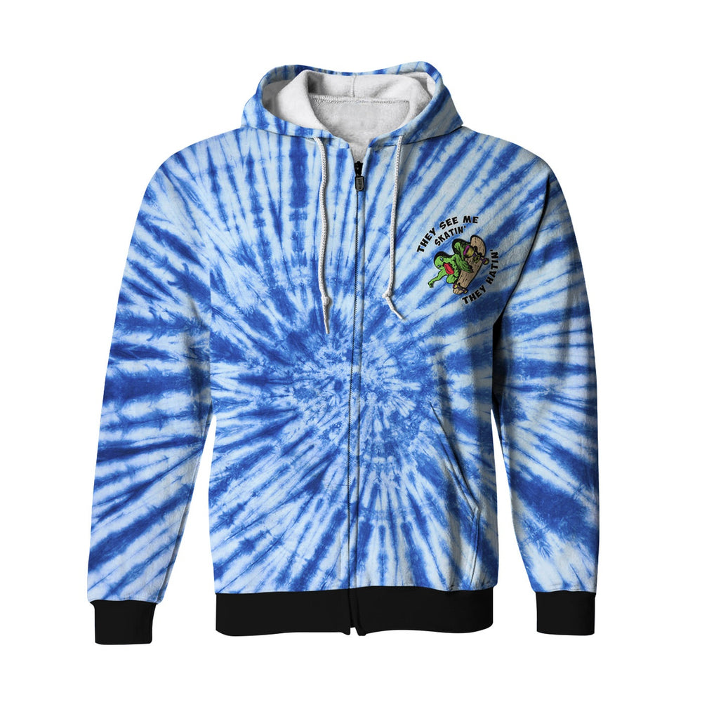 Skate Monster Zip Up Hoodie