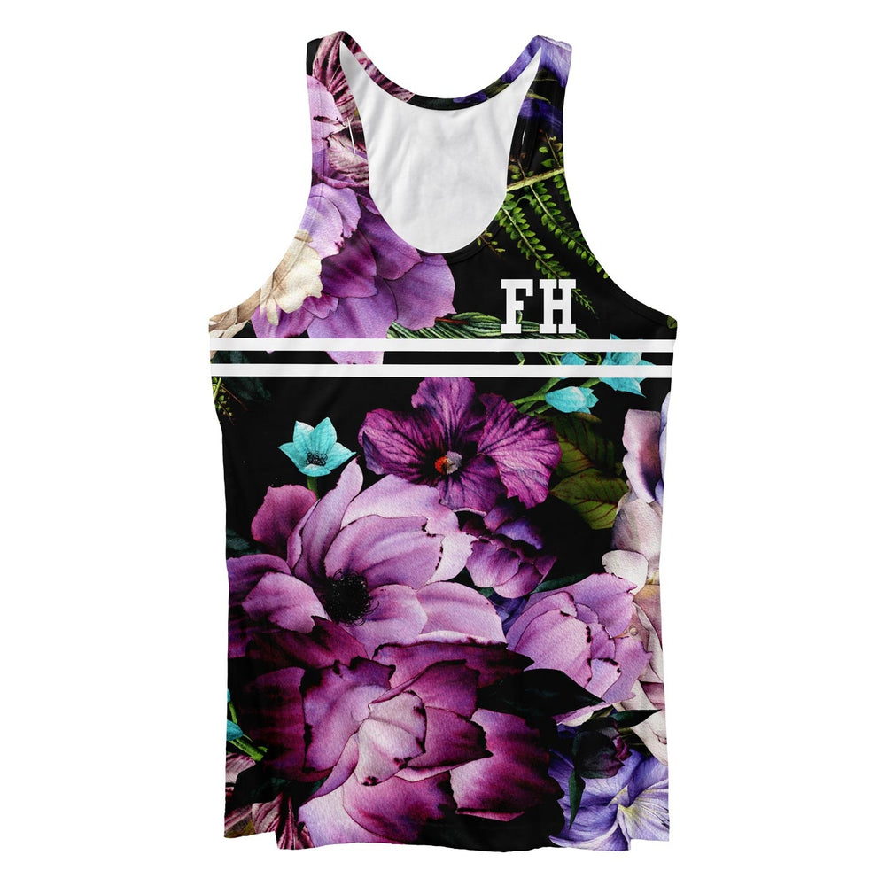 Magenta Purple Blossom Tank Tops