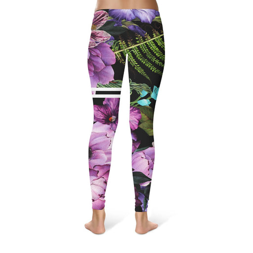 Magenta Purple Blossom Leggings