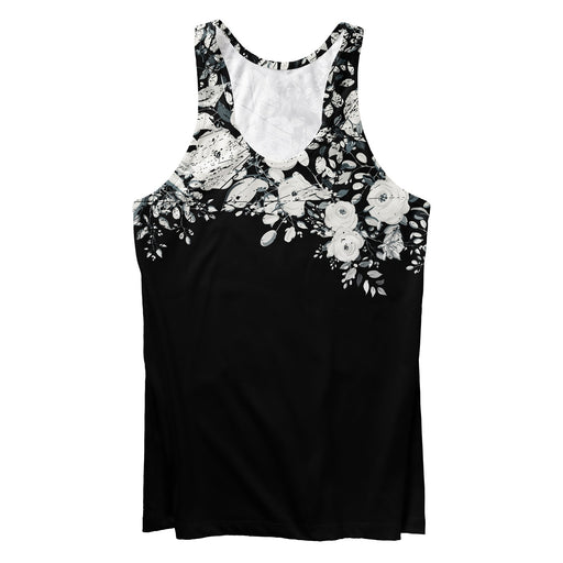 White Rose Blossom Tank Top