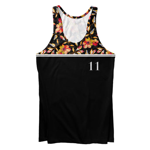 Golden Floral Tank Top