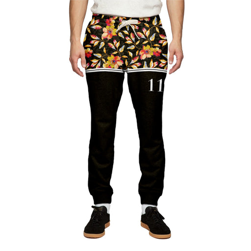 Golden Floral Sweatpants