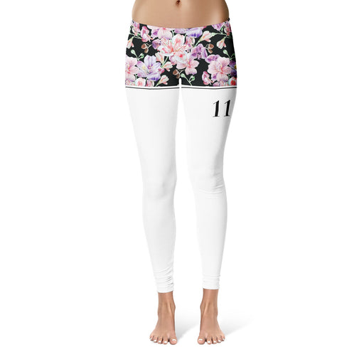 Midnight Pink Blossom Leggings