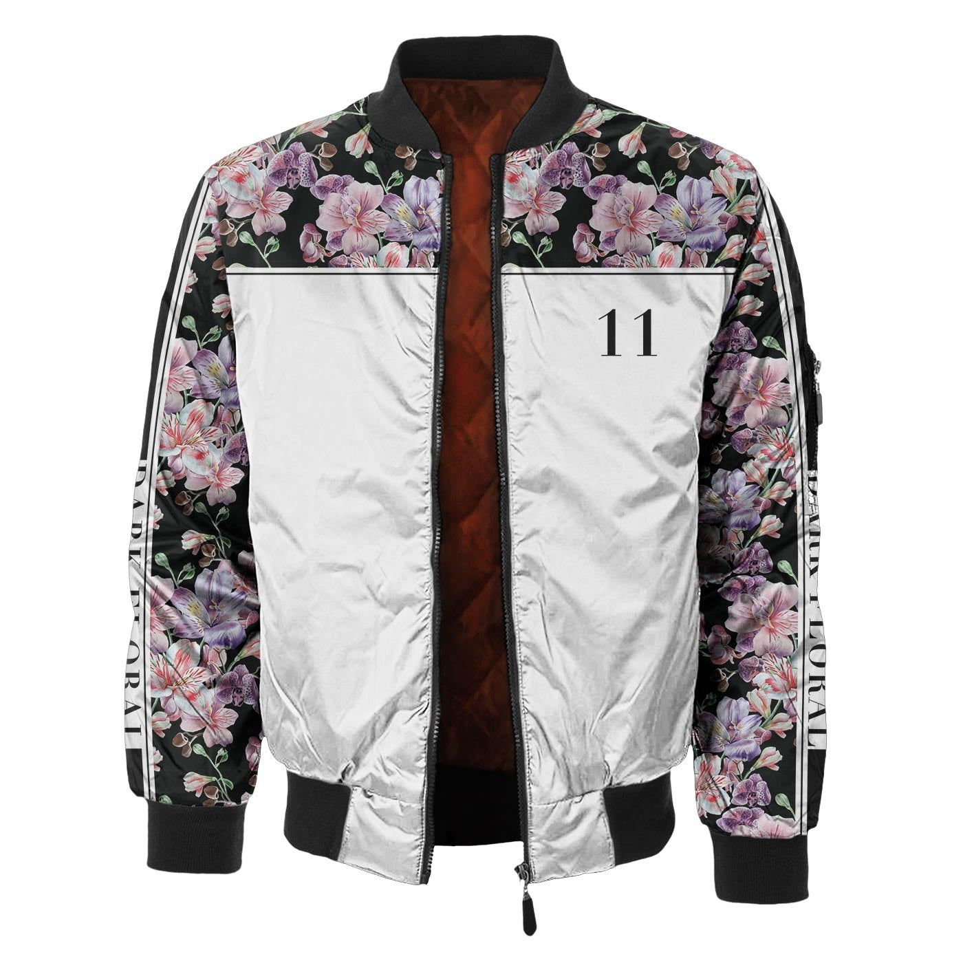 Midnight Pink Blossom Bomber Jacket