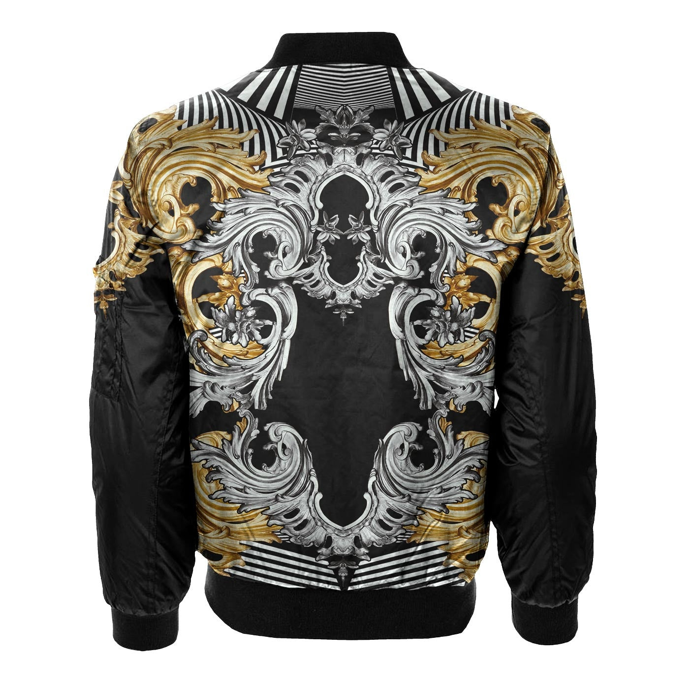 Platinum Gold Bomber Jacket