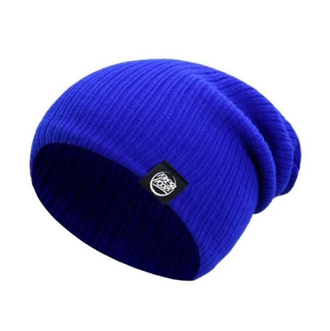 FH Royal Blue Cuffless Beanie