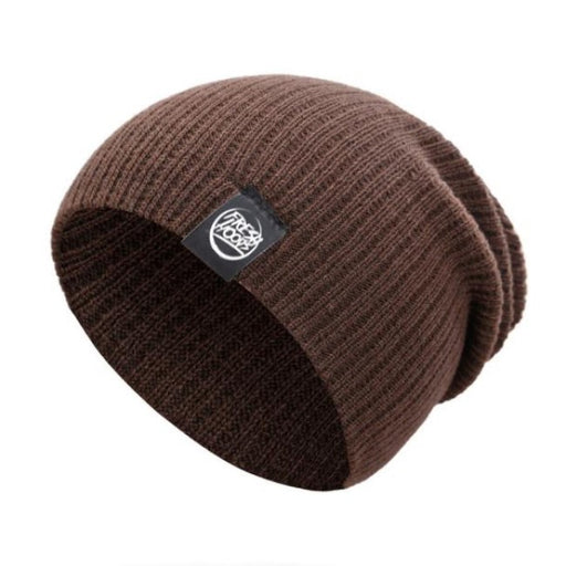 FH Earth Brown Cuffless Beanie