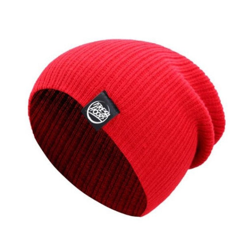 FH Red Cuffless Beanie