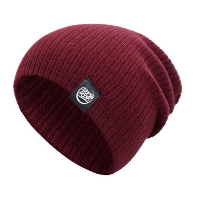 FH Wine Red Cuffless Beanie