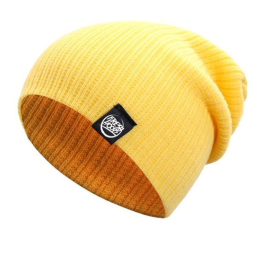 FH Yellow Cuffless Beanie