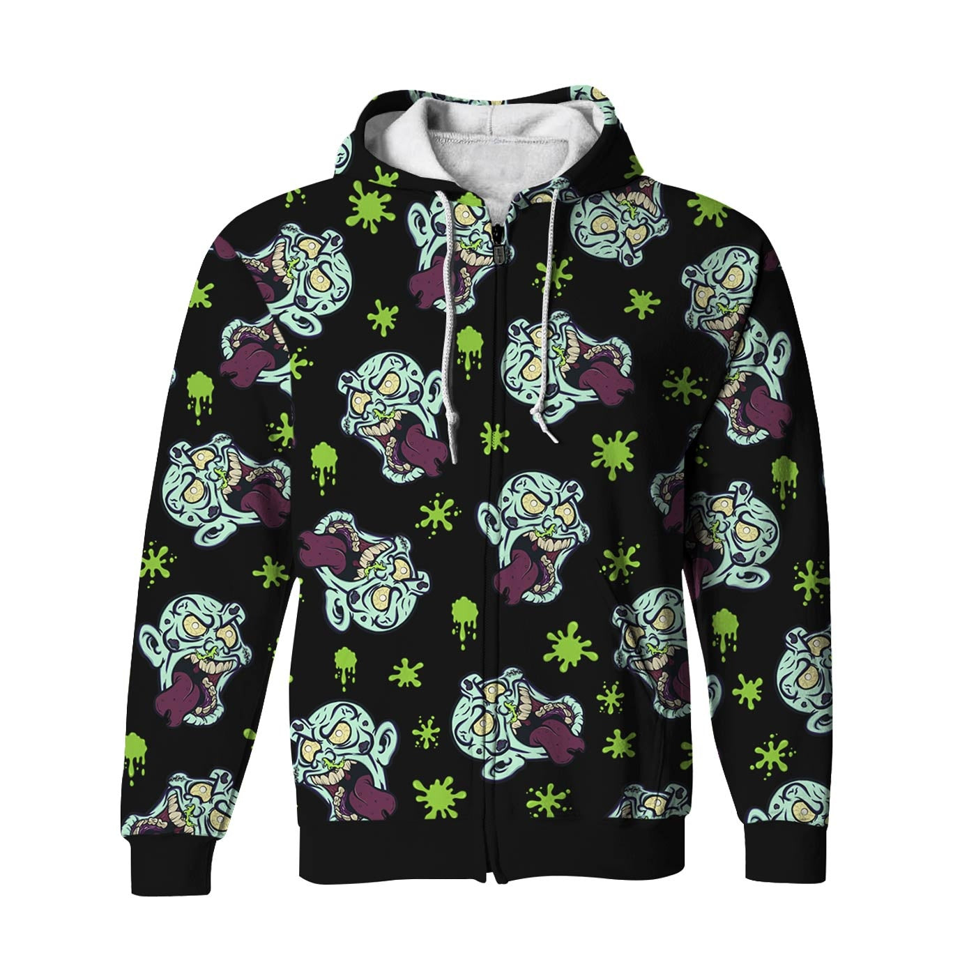 Silly Zombie Zip Up Hoodie