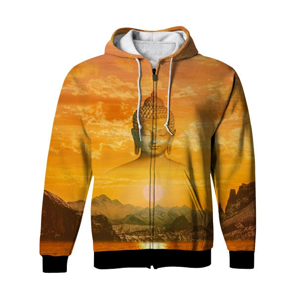 Holy Sunset Zip Up Hoodie