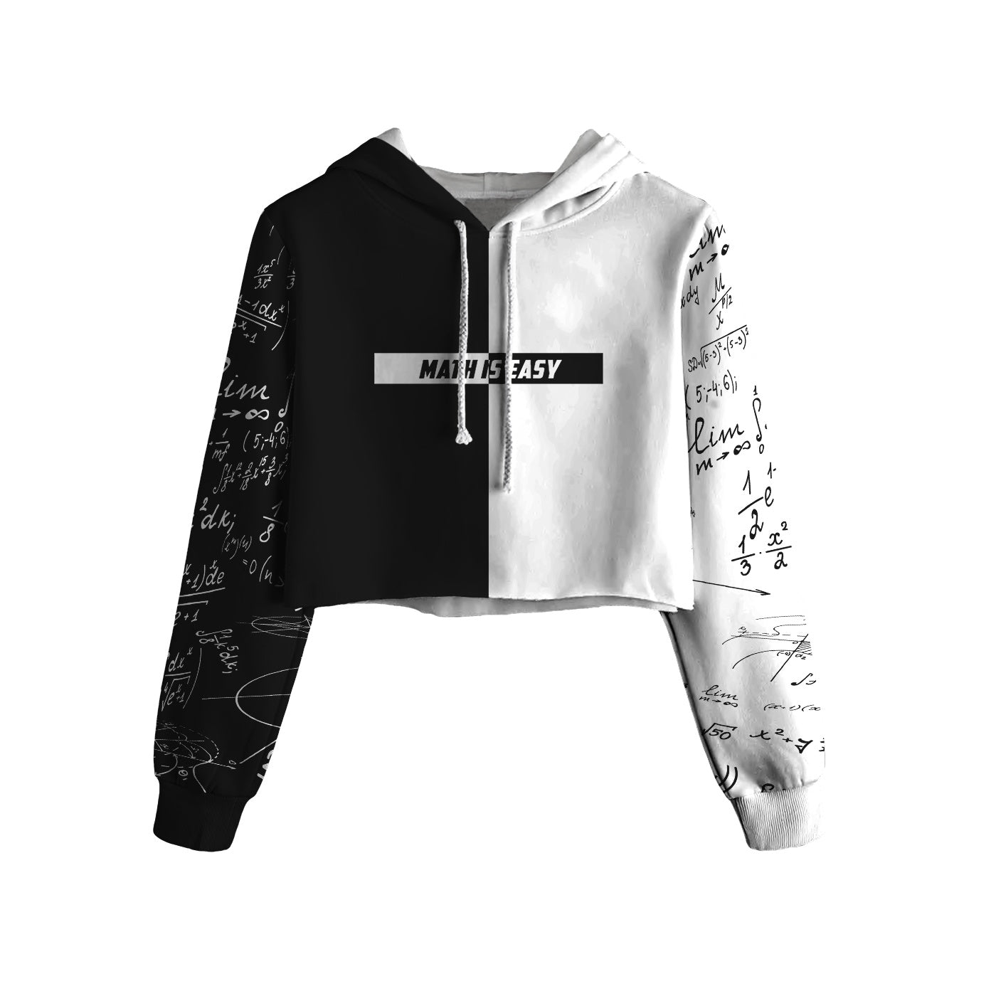 Math Is Easy Cropped Hoodie