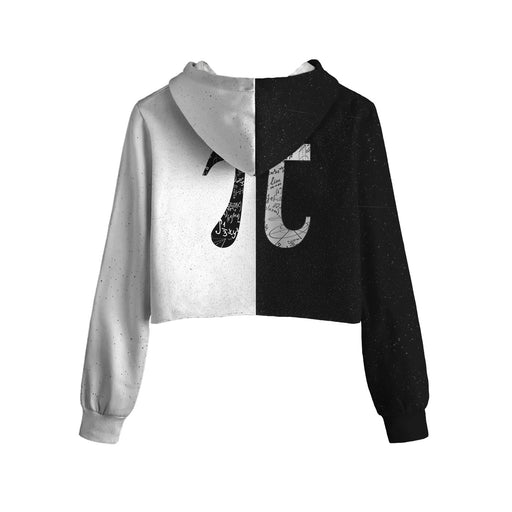 Pi Universe Cropped Hoodie