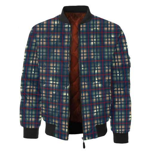 Multiplaid Bomber Jacket