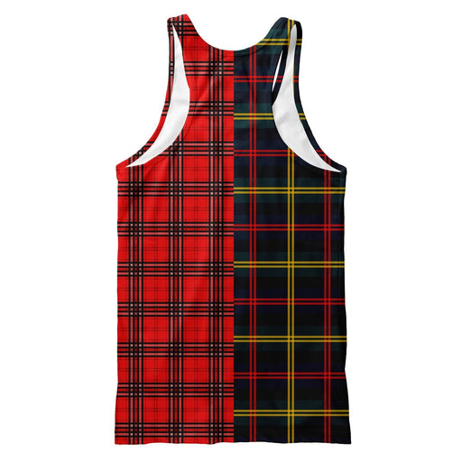 Plaid Combined Tank Top