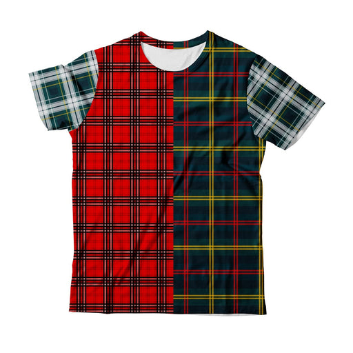 Plaid Combined T-Shirt