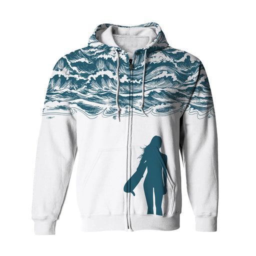 Waves Zip Up Hoodie