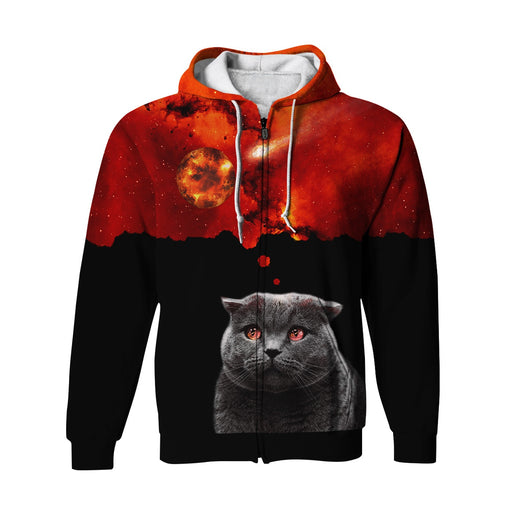 Kitty Cat Zip Up Hoodie