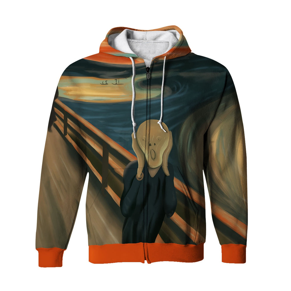 A Scream Zip Up Hoodie