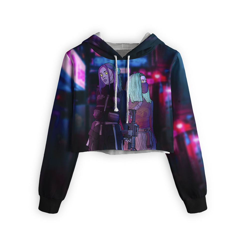 Cyber Punk Cropped Hoodie