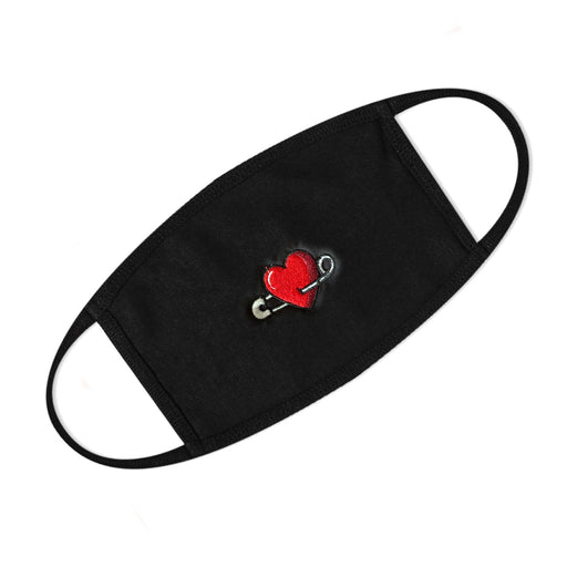 Heart Embroidered Mask