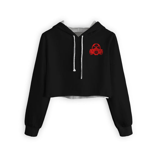 X Mask Cropped Hoodie