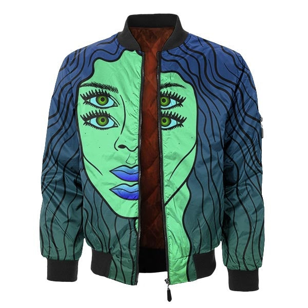 Think About It Bomber Jacket