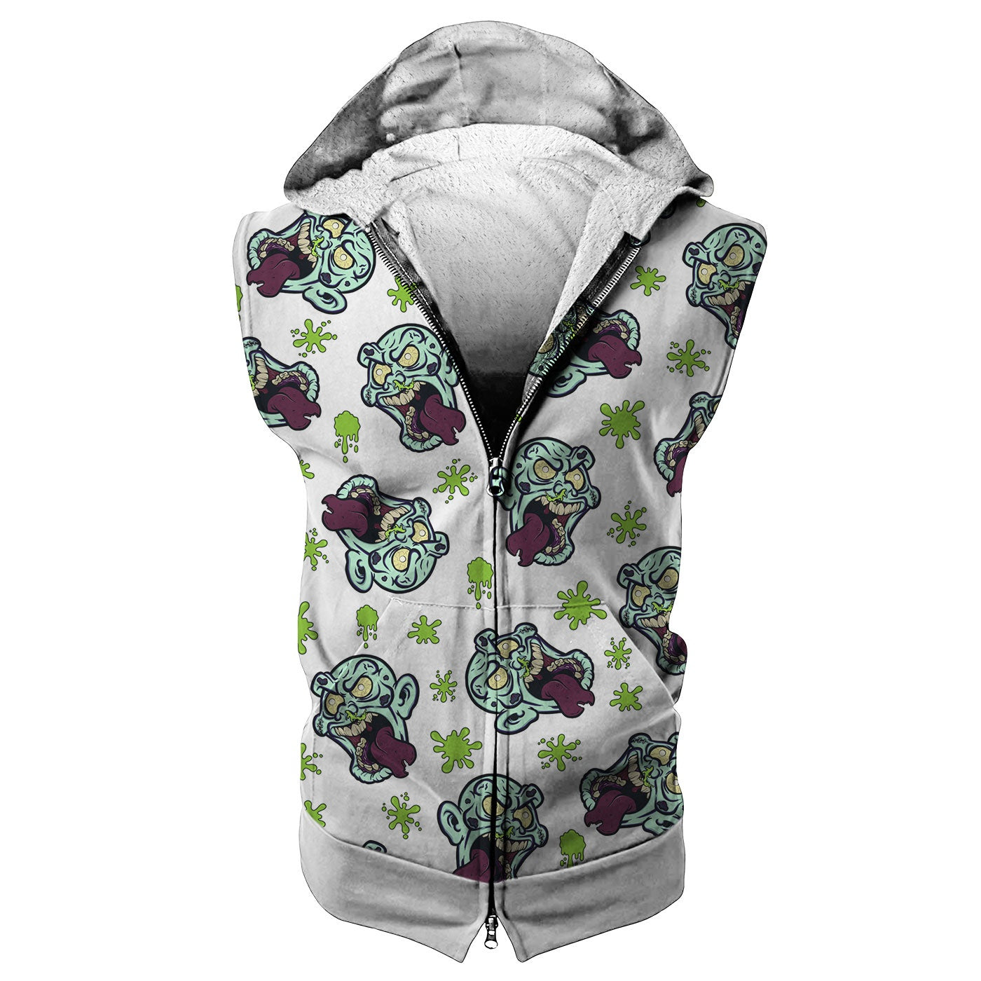 Silly Zombie Sleeveless Hoodie