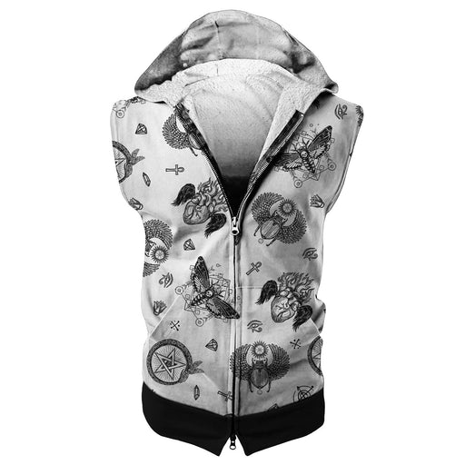 Tattoo Opt Sleeveless Hoodie