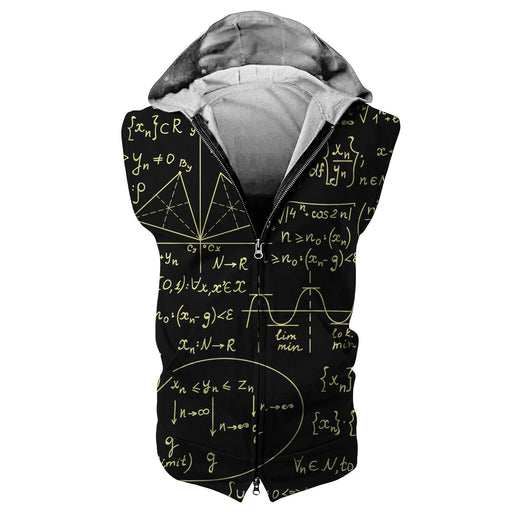 Math Routine Sleeveless Hoodie