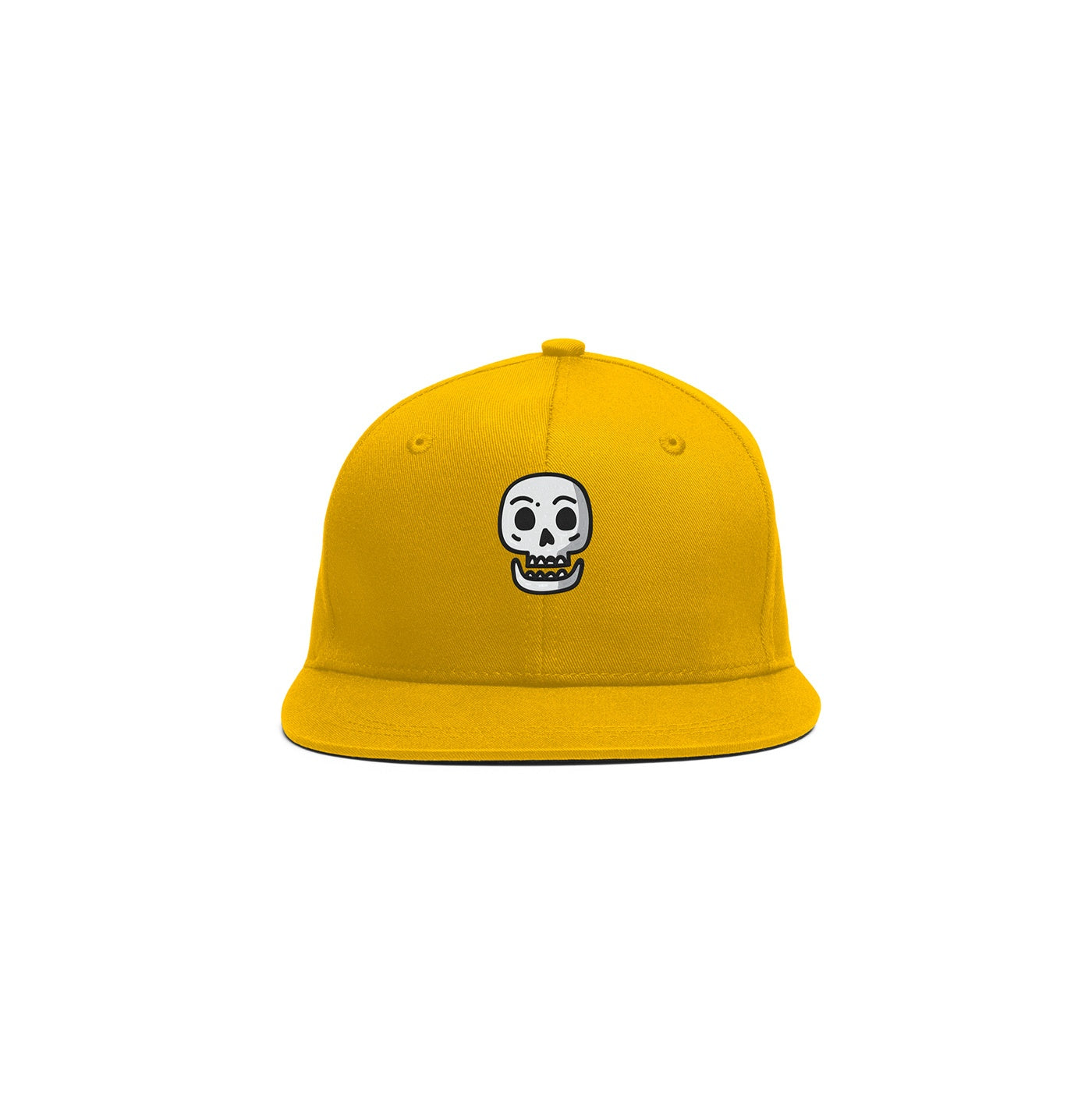 Embroidered Simple Skull Cap