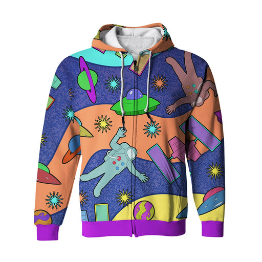 Spaceships Zip Up Hoodie