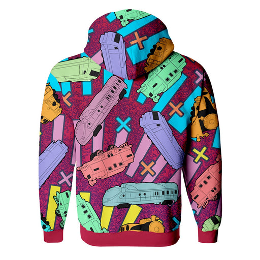 Trains Zip Up Hoodie
