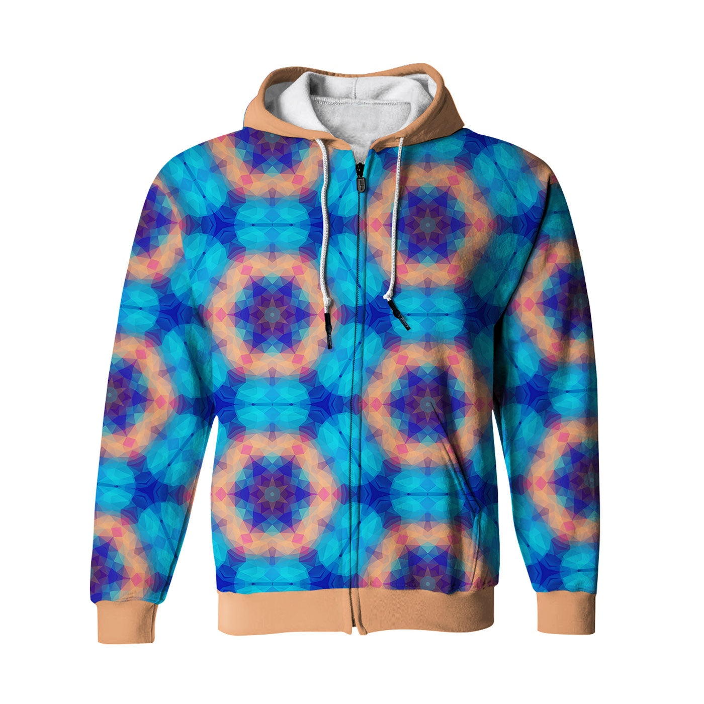 Blurry Day Zip Up Hoodie