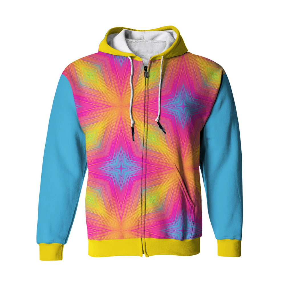 Summer Stars Zip Up Hoodie