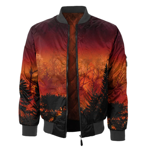 Forest In Flames Bomber Jacket