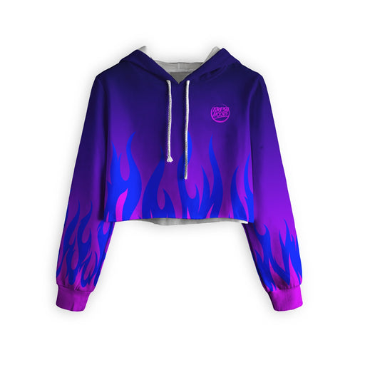 Burn In Colors Cropped Hoodie
