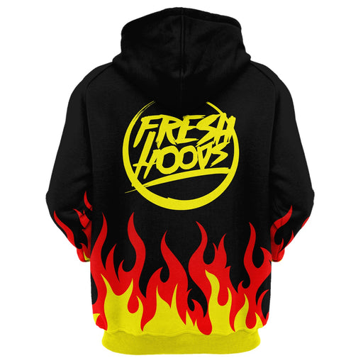 Cartoon Flame Hoodie