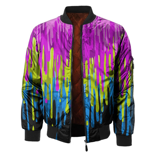 Dripping Paint Bomber Jacket