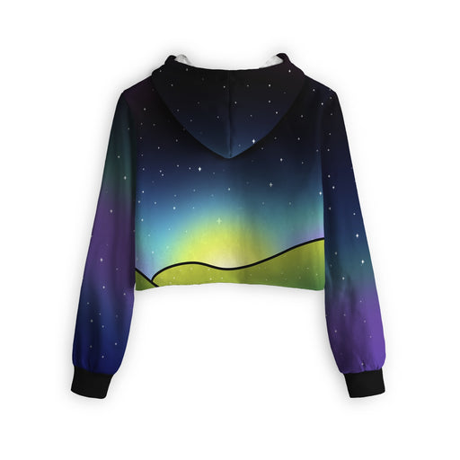 Psychedelic Dream Cropped Hoodie