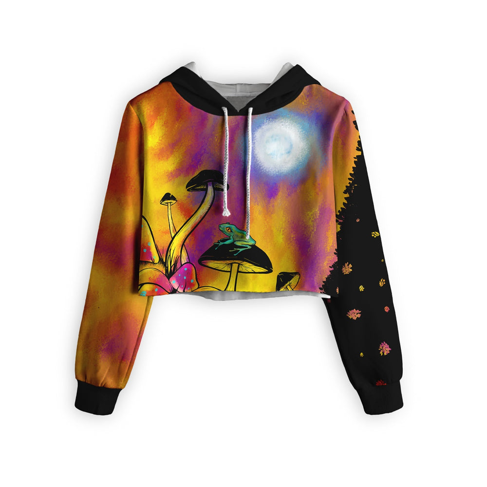 Trippy Nights Cropped Hoodie